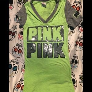 Vs pink green top
